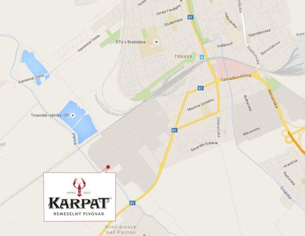 Pivovar Karpat Mapka