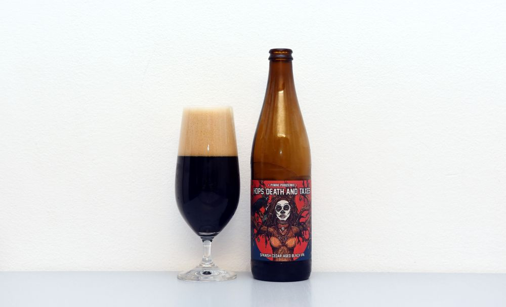 Piwne Podziemie, Hops Death and Taxes, poľské pivo, Black IPA, IPA, tmavé pivo, recenzia, test piva