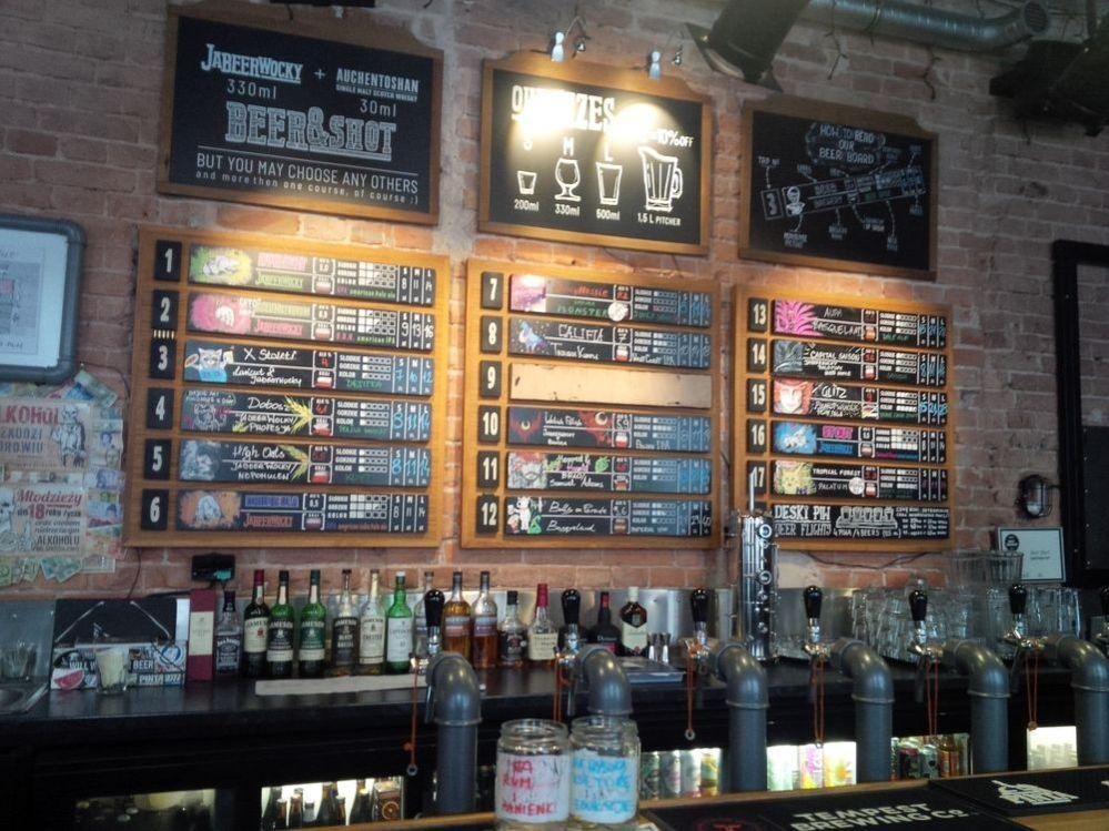 Jabeerwocky, Poľsko, pivo, ponuka piva, pivné menu