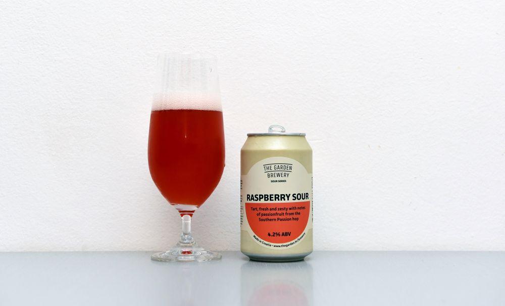 Garden Brewery, kyseláč, Raspberry Sour, malinové pivo, chorvátske pivo