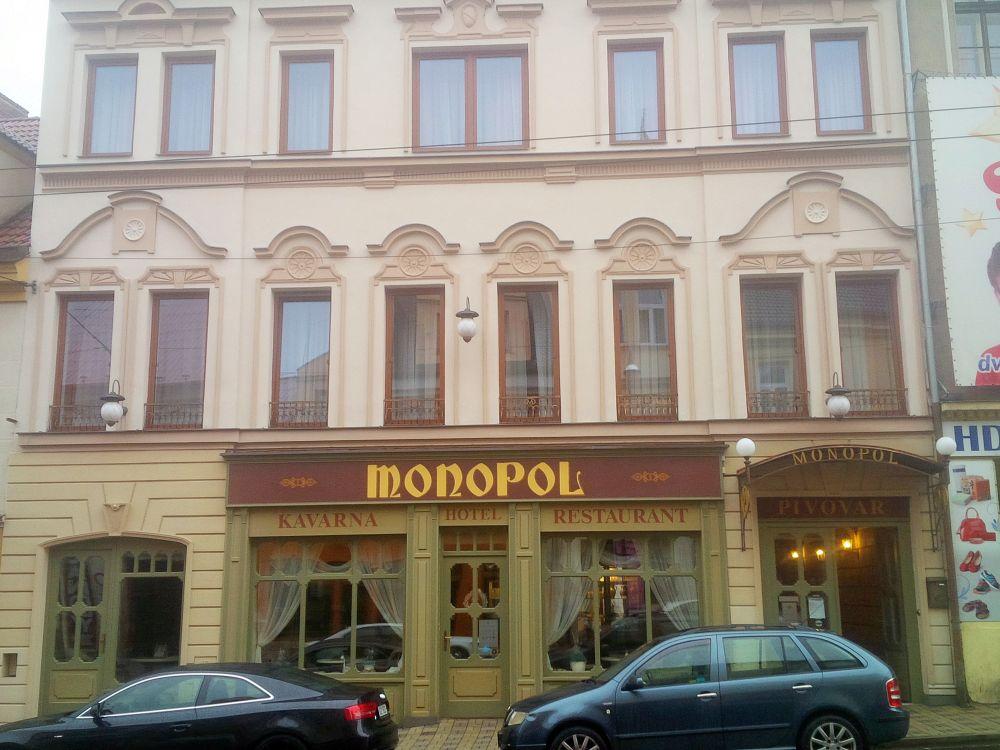 Teplický pivovar Monopol - budova pivovaru a reštaurácie.