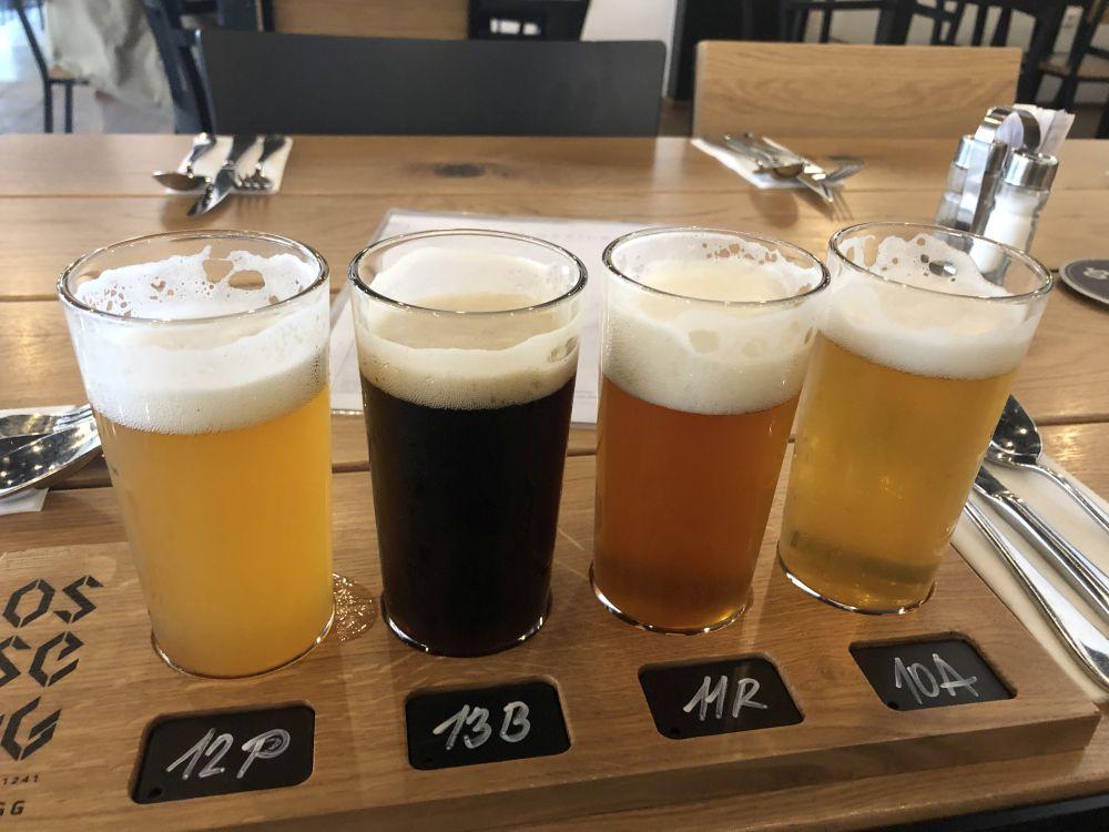 Praha. Pivná ponuka v pivovare Osseg.