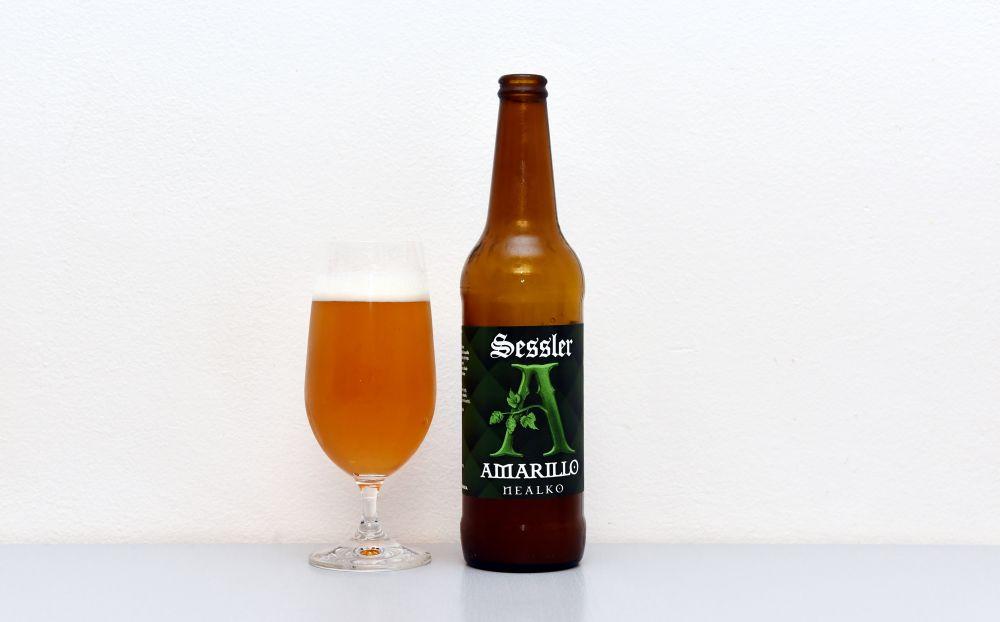 Pivo Amerillo Nealko z dielne trnavského pivovaru Sessler.