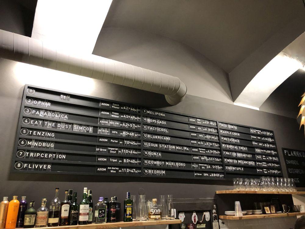 Ponuka piva - Axiom Pub