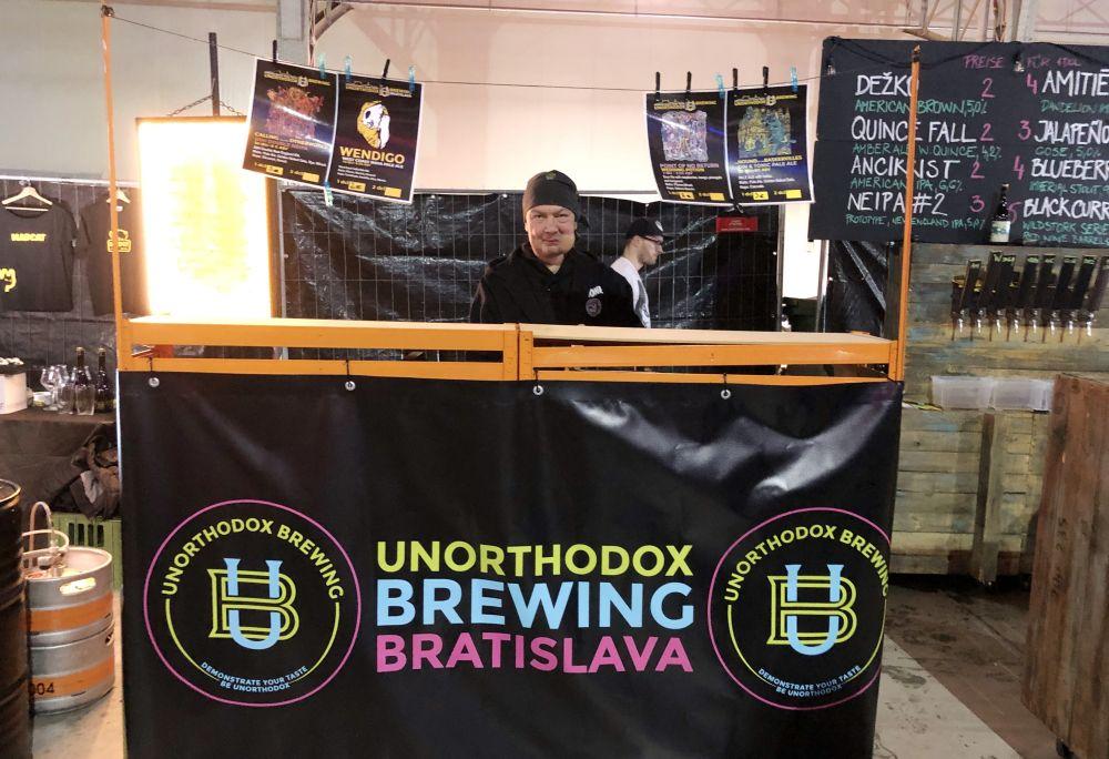 Stánok na Craft Bier Fest - Unorthodox Brewing.