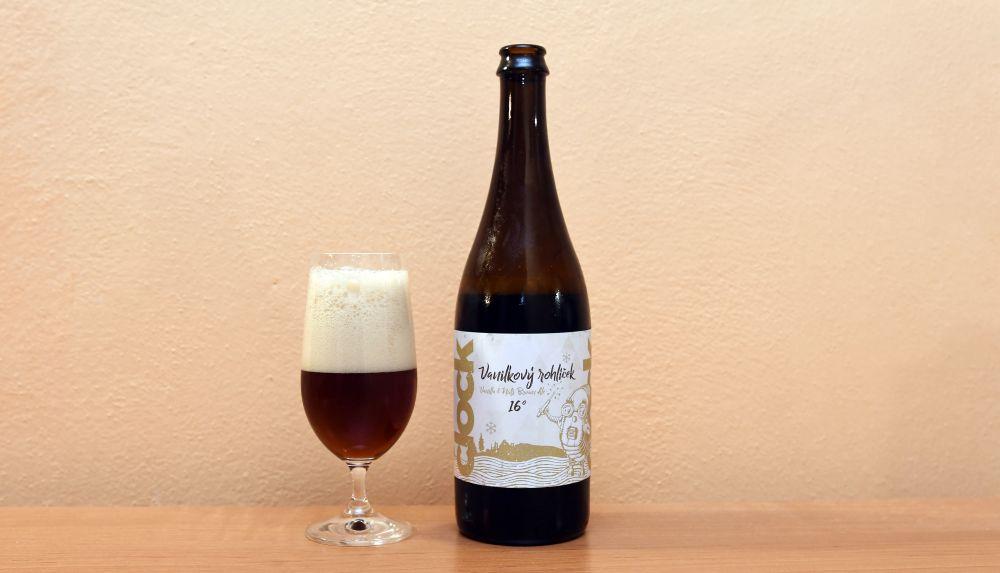 Vanilkový rohlíček - pivo z pivovaru Clock