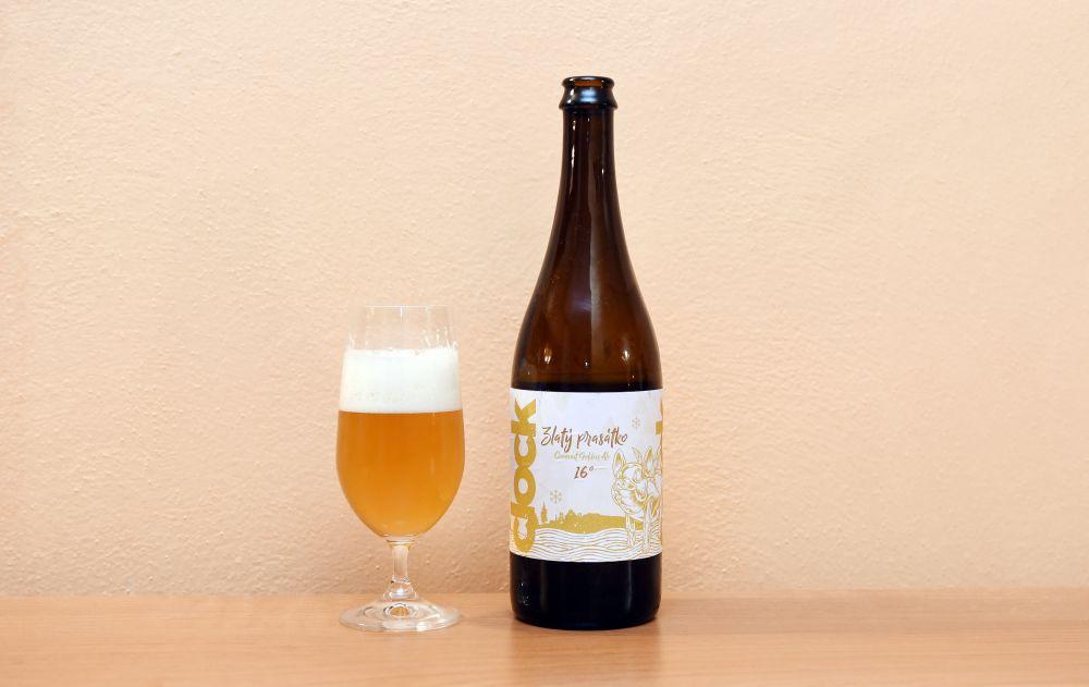 Zlatý prasátko - pivo z pivovaru Clock