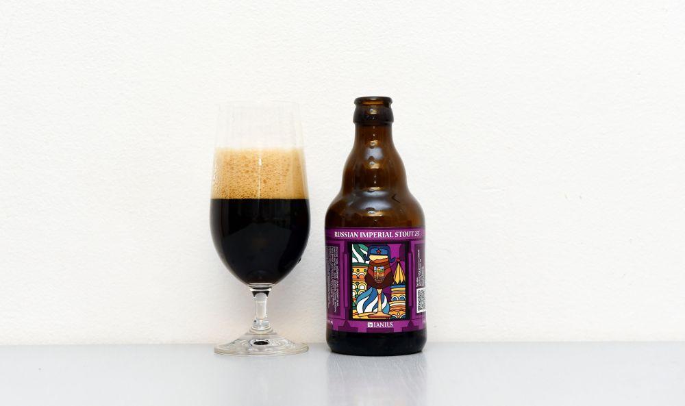 Pivo z pivovaru Lanius - Russsian Imperial Stout.
