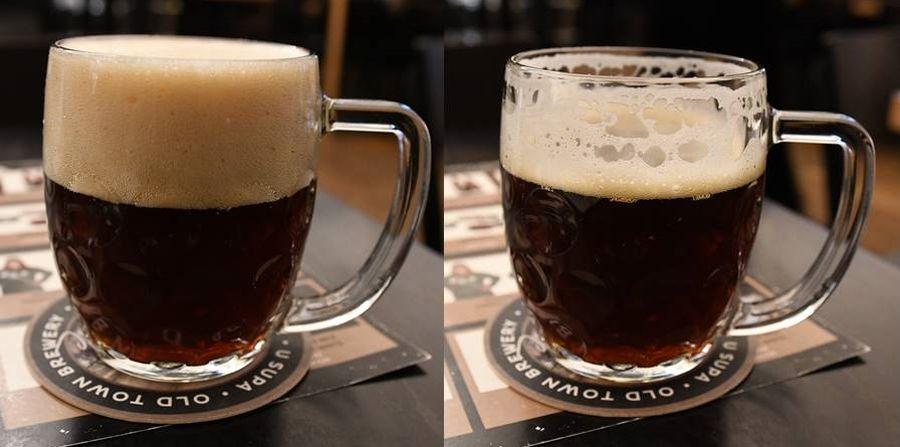 Čapovanie piva v pivovare U Supa