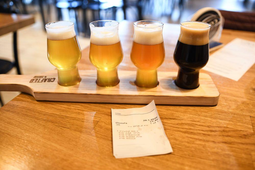 Pivné set v pivovare Cobolis