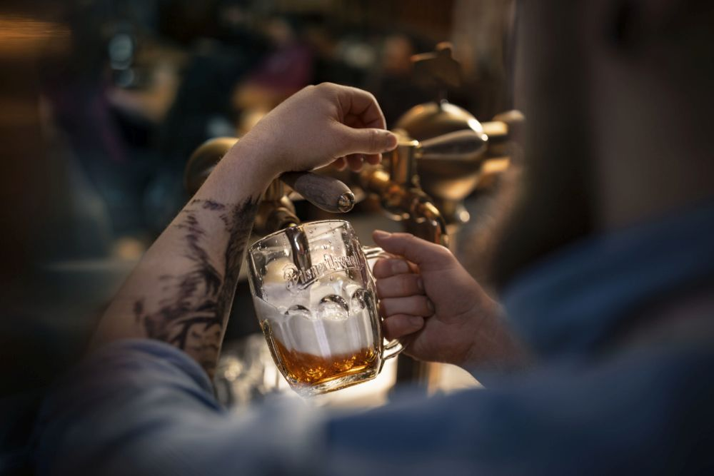 Prazdroj - pivo - spotrebu