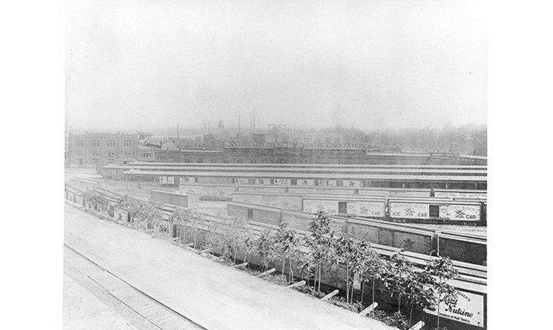 Anheuser Busch - historická fotka