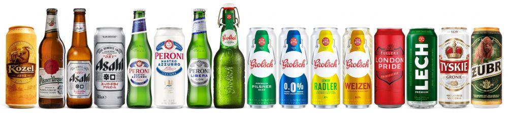 Asahi - Castel - najväčšie pivovary sveta