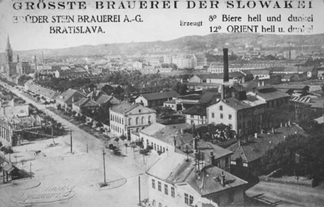 Historická snímka pivovaru Stein