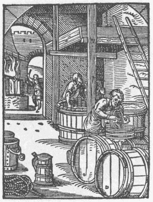 Wikimedia - Historická kresba tvorby piva